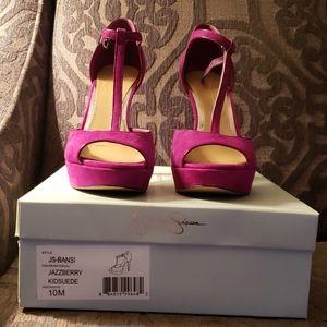 Jessica Simpson Jazzberry heels